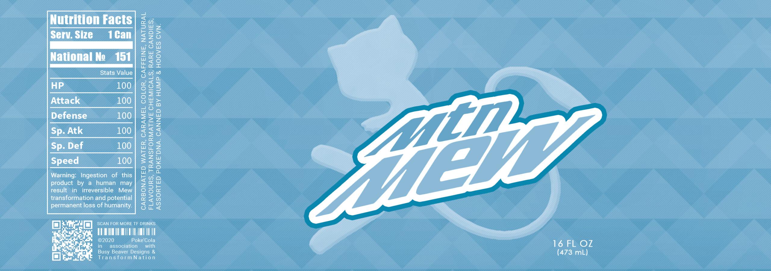 Mountain Mew Shiny Blue Label